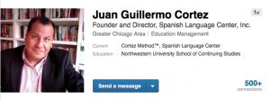 Juan Guillermo Cortez LinkedIn Spanish Language Center